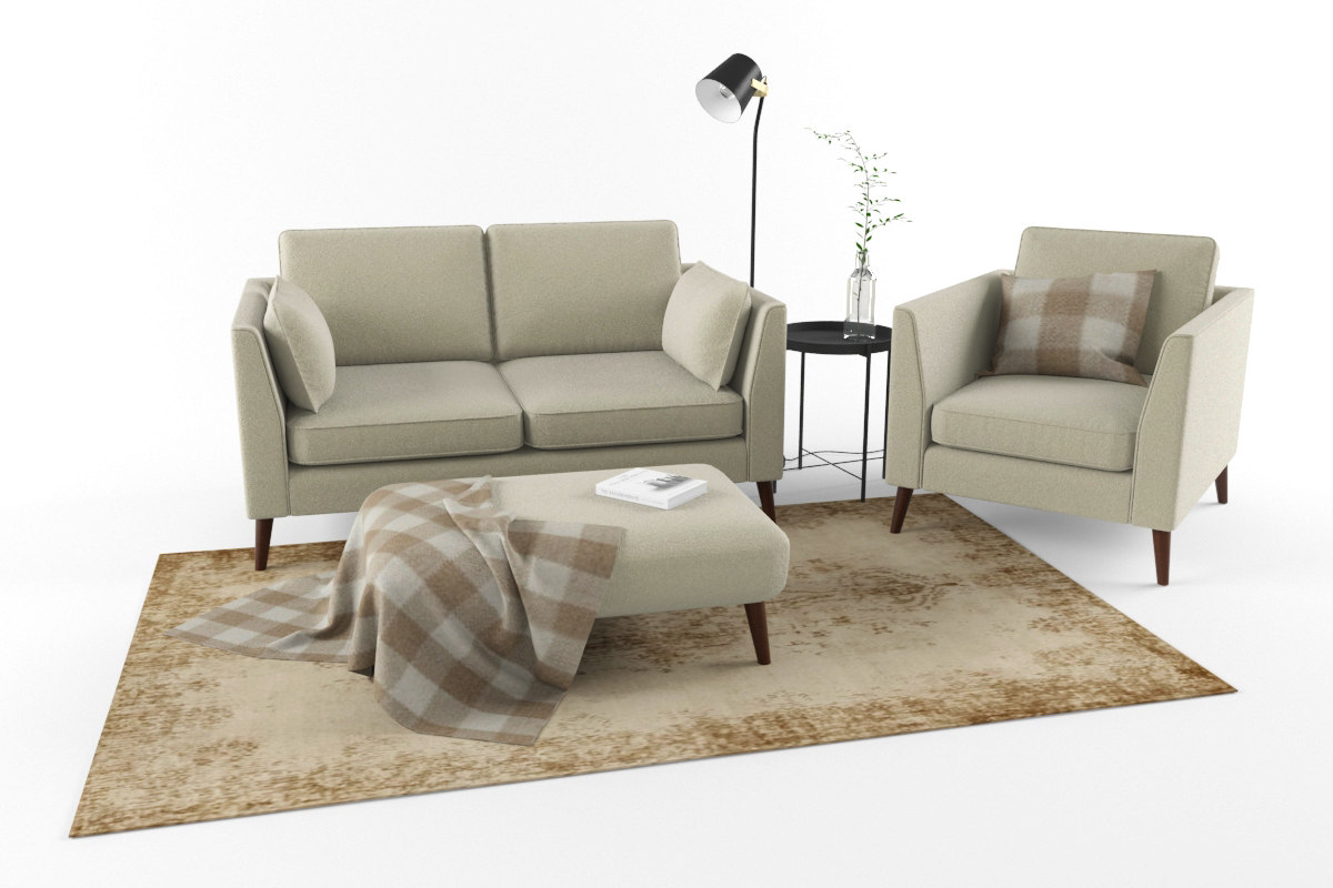 set sofa workshop cameron 3D model