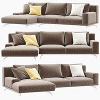3D ditreitalia dalton sofa