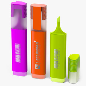 3D highlighter markers-fluorescent