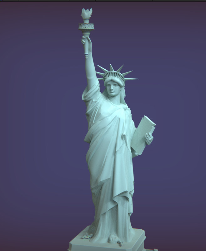 statue liberty 3D