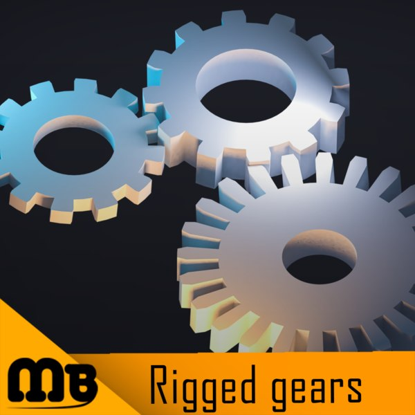 3D rigged gears