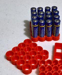 3D organizes aa batteries model