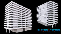 3D miami building 01 model