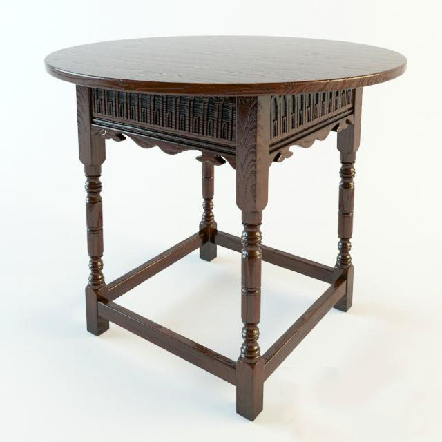 moroccan table small 3D model