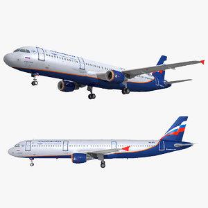 a321 ready plane 3D model