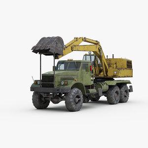 3D kraz loader truck model