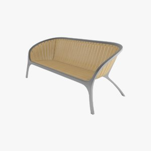 bench gloster 3D