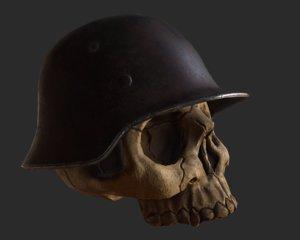 3D skull helmet