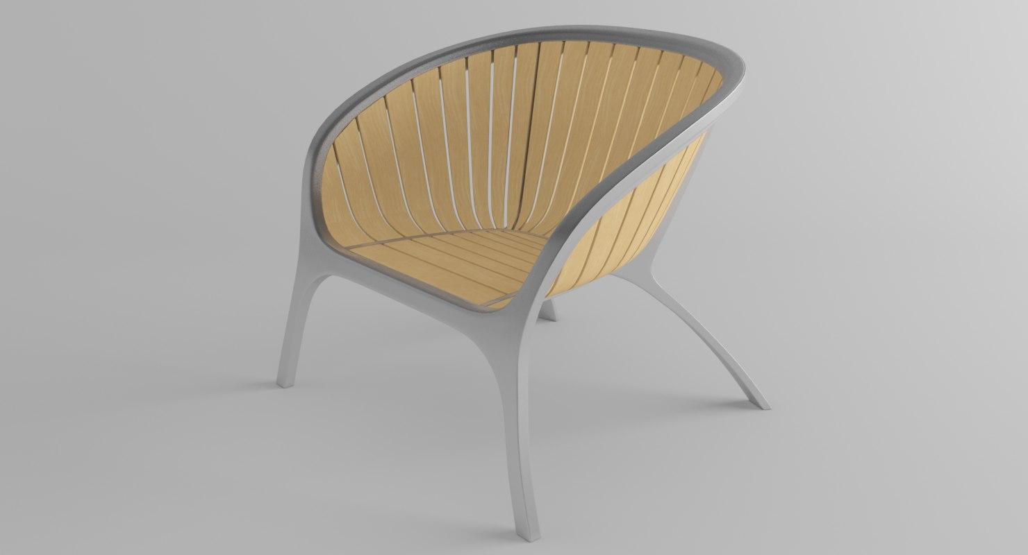 3D model armchair gloster