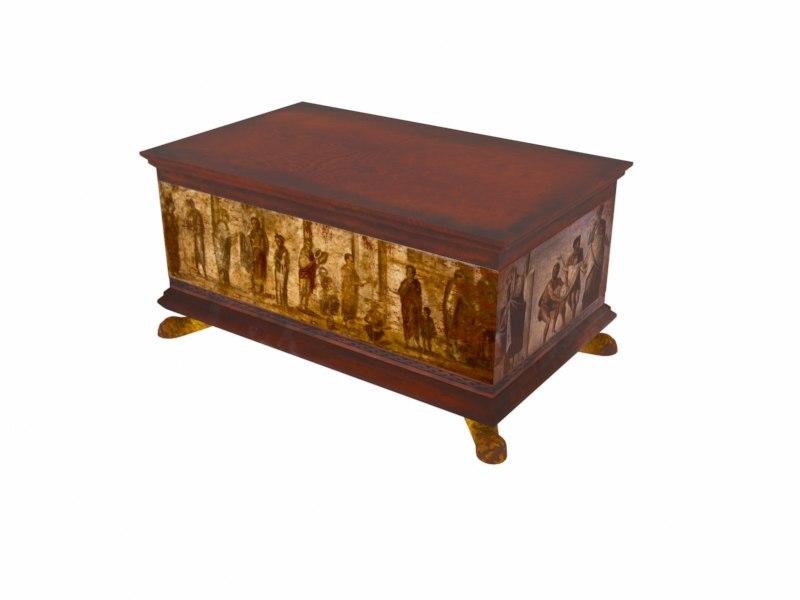3D antique chest model