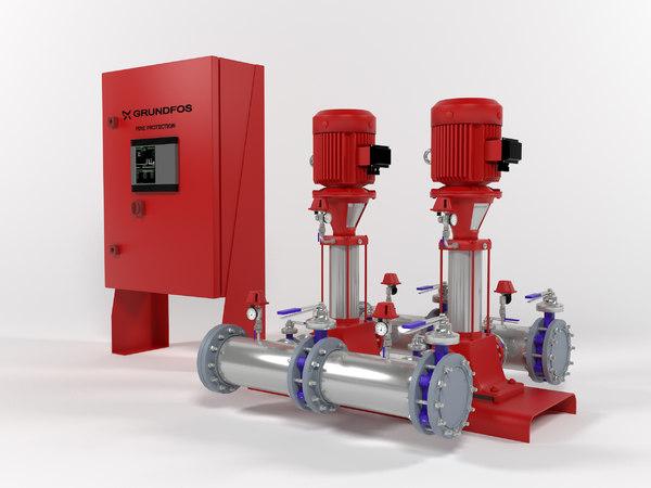 grundfos hydro mx1 2cr10-3 3D model