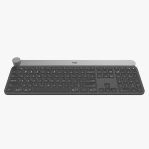 3D model logitech craft keyboard