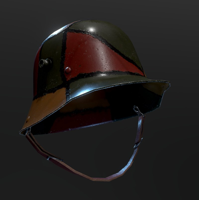 german ww1 helmet stahlhelm 3D