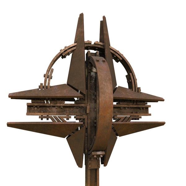 3D nato star sculpture model