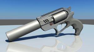 sidearm gun 3D
