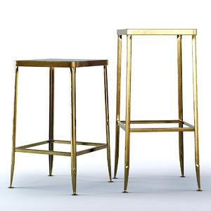 3D flint gold stool bar