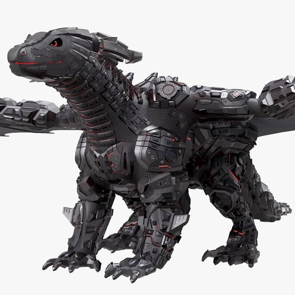 3D robot dragon
