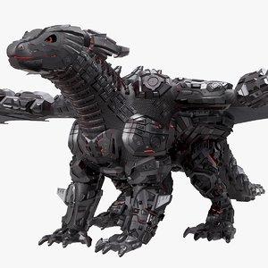 3D robot dragon