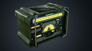3D model radio pbr metal