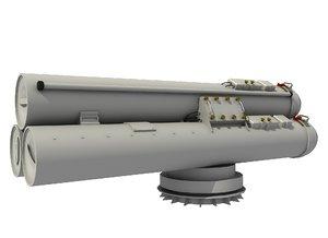 mk-32 torpedo 3D model