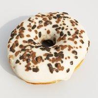 3D donut pastry dessert model