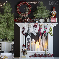 3D holiday fireplace