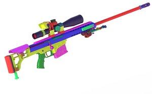 barrett 98b 3D model