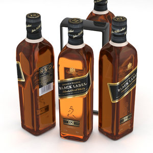 scotch label whisky model