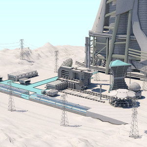 facility futuristic build 3D model