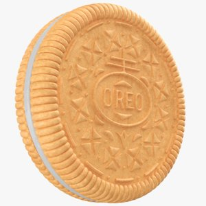 3D model oreo biscuit