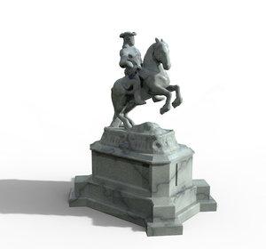 sculpture statue equestrian model