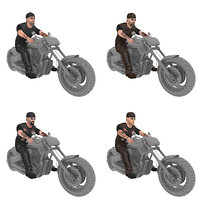 3D pack rigged biker