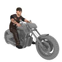 3D rigged biker