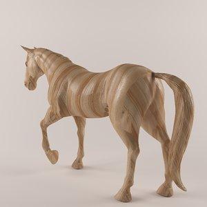 3D wooden horse
