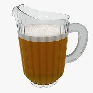 3D plastic jug beer