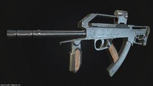 3D model machine gun