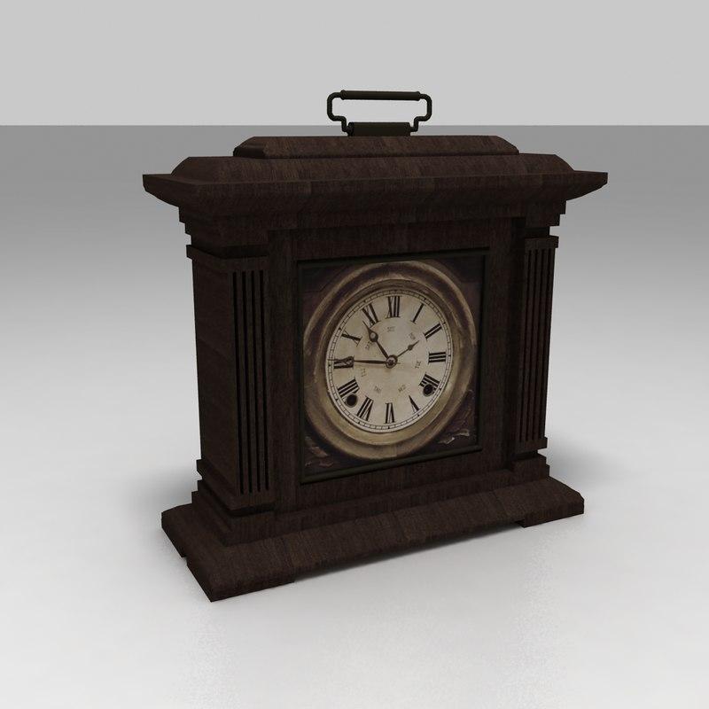 3D antique clock model