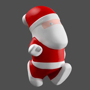 little cartoon santa 3D
