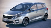 kia carens 2018 3D model