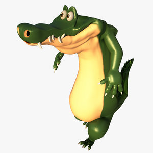 cartoon croc 3d 3ds