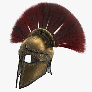 3D sparta helmet