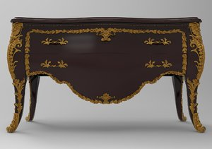 commode carved 3D