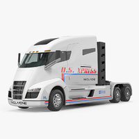 Electric Semi Truck Nikola One 3D Model