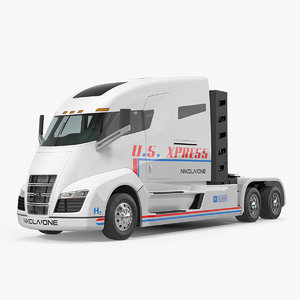 electric semi truck nikola 3D model