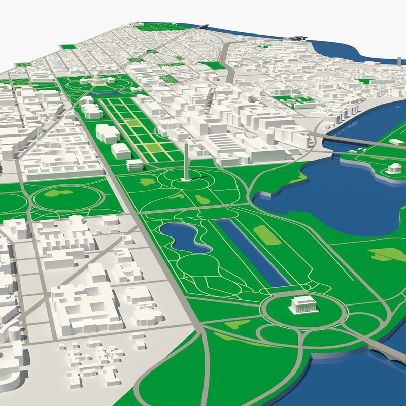 washington dc city 3D model