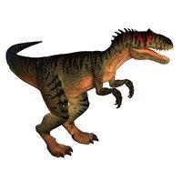 3D allosaurus ar vr mobile