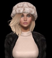 3D Mesh hair with hat