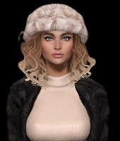 3D Mesh hair with hat (2)