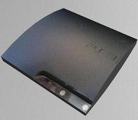 playstation 3 slim 3D model
