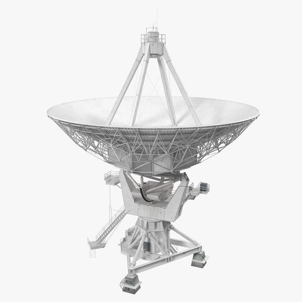 big parabolic satellite dish 3D model